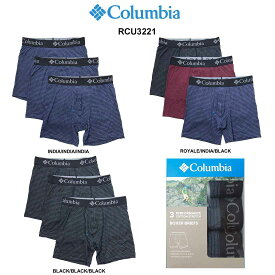 Columbia(コロンビア)ミドル ボクサーパンツ 3枚セット パック メンズ 下着 RCU3221