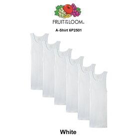 FRUIT OF THE LOOM(フルーツオブザルーム)タンクトップ 6枚セット White A-Shirt 6P2501