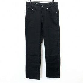 【中古】 EDWIN E503 エドウィン 29 メンズ カラーデニム パンツ ジーンズ ジーパン ストレート ジップフライ ロゴ 綿×ポリウレタン ブラック 黒
