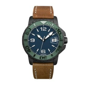UNDONE AQUA STANDARD 腕時計【自動巻機械式 ブラックケース セラミック グリーン イタリアンレザーベルト】