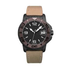 UNDONE AQUA STANDARD 腕時計【自動巻機械式 アクアブラックケース セラミック ブラウン コーデュラベルト ベージュ】