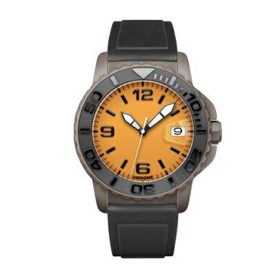 UNDONE AQUA CERAKOTE 腕時計【自動巻機械式 セラコーテ グレーケース セラミック ブラック ラバーブラック】