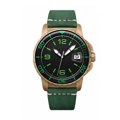 UNDONE AQUA CERAKOTE 腕時計【自動巻機械式 セラコーテ サンドケース K1強化鉱物ガラス グリーン ラバーベルト】