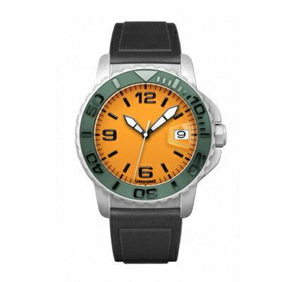 UNDONE AQUA STANDARD 腕時計【自動巻機械式 ホワイトケース セラミック グリーン ラバーベルト】