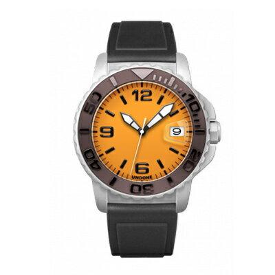 UNDONE AQUA CERAKOTE 腕時計 オレンジ【自動巻機械式 セラコーテ ホワイト セラミック ブラウン ラバーベルト 黒】