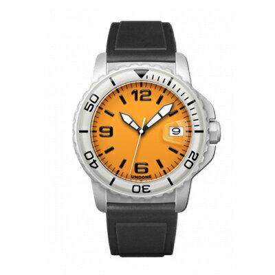 UNDONE AQUA CERAKOTE 腕時計 オレンジ【自動巻機械式 セラコーテ ホワイト K1強化鉱物ガラス 白 ラバーベルト】
