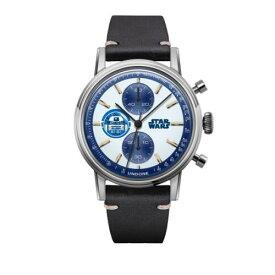 UNDONE スターウォーズ 腕時計R2-D2【 シルバーケース カーフ ブラック】