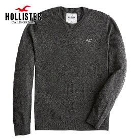 ホリスター メンズ ライトウェイト クルーネック アイコンセーター ニット Hollister Light Weight Crew-Neck Icon Sweater ダークヘザーグレー