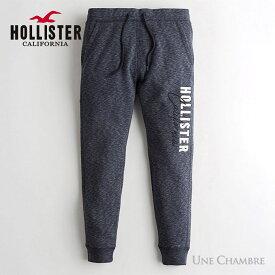 ホリスター メンズ ロゴ フリース ジョガーパンツ スウェットパンツ Hollister Logo Fleece Jogger Pants ヘザーネイビー