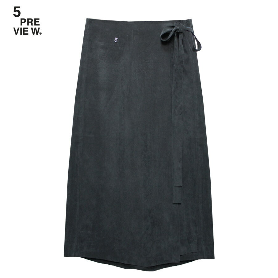 5PREVIEW (ファイブプレビュー) LUCILLE CROPPED TROUSERS (BLACK) [ワイドパンツ/スカート/パネル/ギャルソン/WOMEN] [ブラック]
