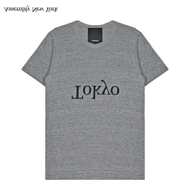 ASSEMBLY (アッセンブリー) LOGO CITY T-SHIRT - TOKYO (HEATHER GREY) [Tシャツ/カットソー/ロゴ/東京/UNISEX] [ヘザー グレー]