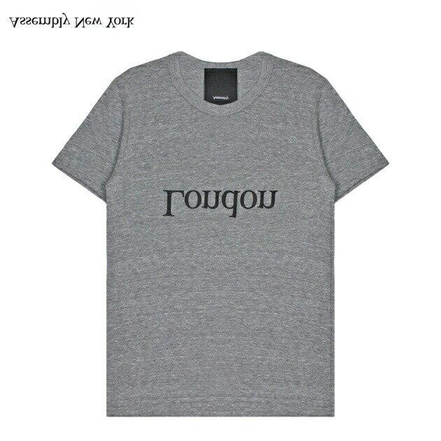 ASSEMBLY (アッセンブリー) LOGO CITY T-SHIRT - LONDON (HEATHER GREY) [Tシャツ/カットソー/ロンドン/ロゴ/UNISEX] [ヘザー グレー]