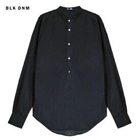 【楽天ポイント最大44倍】BLK DNM (ブラック デニム) SHIRT 8 (BLACK) [ドレスシャツ ヘンリーネック トップス ブランド シルク ストリート モード グランジ メンズ レディース ユニセックス 長袖 UNISEX] [ブラック]