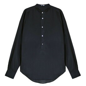BLK DNM (ブラック デニム) SHIRT 8 (BLACK) [ドレスシャツ ヘンリーネック トップス ブランド シルク ストリート モード グランジ メンズ ユニセックス 長袖] [ブラック]