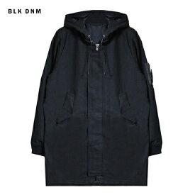 BLK DNM (ブラック デニム) PARKA 3 (BLACK) [ロングボンバージャケット コート アウター ブランド モッズ ミリタリー ストリート モード グランジ メンズ レディース ユニセックス MA-1 UNISEX] [ブラック]