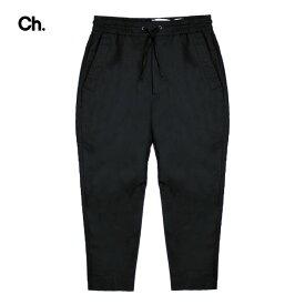 【最大70%OFF COUPON SALE】CHAPTER (チャプター) BARON PANTS (BLACK) [ジョガーパンツ トラウザー スラックス ボトムス ブランド テーパード スリム コットン ストリート モード メンズ レディース ユニセックス UNISEX] [ブラック]