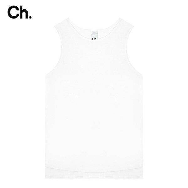 CHAPTER (チャプター) RO SLEEVELESS T-SHIRT (WHITE) [ノースリーブ/タンクトップ/ロングトール/レイヤード/無地/UNISEX] [ホワイト]
