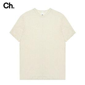 【半額50%OFFセール】CHAPTER (チャプター) VIN T-SHIRT (OFF WHITE) [Tシャツ カットソー トップス オーバーサイズ ビッグシルエットブランド ストリート モード メンズ レディース ユニセックス 無地 半袖 UNISEX] [オフ ホワイト]