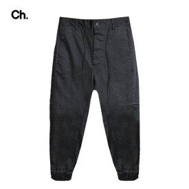 CHAPTER (チャプター) SERR PANT (BLACK) [ジョガートラウザー/パンツ/スラックス/スリム/コットン/MENS] [ブラック]
