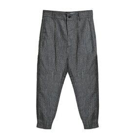 CHAPTER (チャプター) SERR PANT (BLACK SPEC) [ジョガートラウザー パンツ スラックス ボトムス ブランド テーパード スリム コットン ストリート モード メンズ レディース ユニセックス UNISEX] [ブラック スペック]