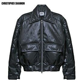 CHRISTOPHER SHANNON (クリストファー シャノン) QUILTED JACKET (BLACK) [ボンバージャケット ブルゾン アウター ブランド キルティング ストリート モード メンズ レディース ユニセックス 中綿 MA-1 UNISEX] [ブラック]