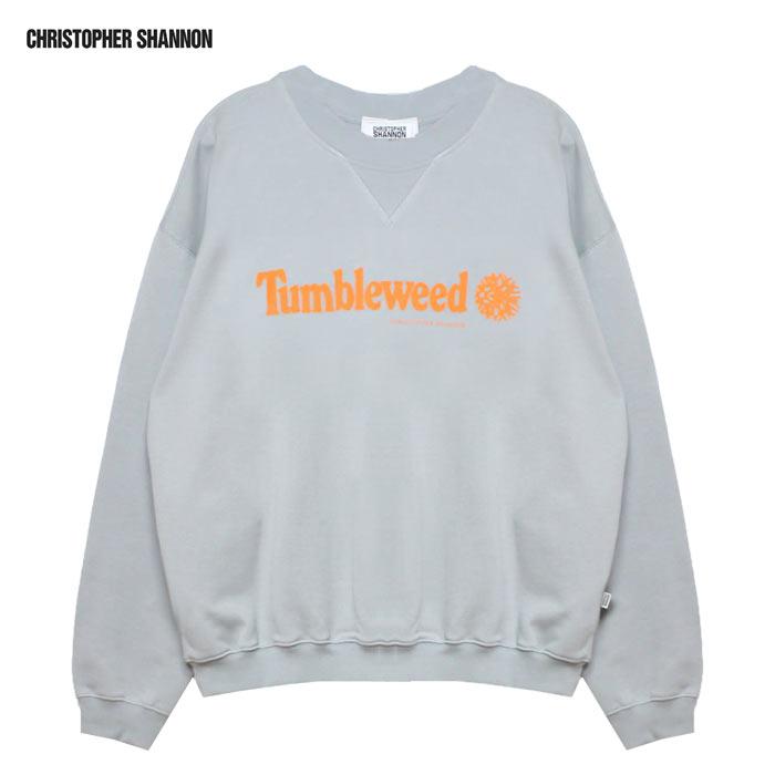 CHRISTOPHER SHANNON (クリストファー シャノン) TUMBLEWEED SWEATSHIRT (GREY) [スウェットシャツ/トレーナー/クルーネック/パロディ/ロゴ/UNISEX] [グレー]