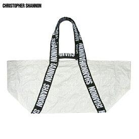 【半額50%OFFセール】CHRISTOPHER SHANNON (クリストファー シャノン) CARRYALL BAG (WHITE) [ビッグトートバッグ クラッチ ブランド ナイロン ロゴ ストリート スポーツ スケート メンズ レディース ユニセックス UNISEX] [ホワイト]