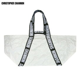 CHRISTOPHER SHANNON (クリストファー シャノン) CARRYALL BAG (WHITE) [ビッグトートバッグ クラッチ ブランド ナイロン ロゴ ストリート スポーツ スケート メンズ レディース ユニセックス UNISEX] [ホワイト]