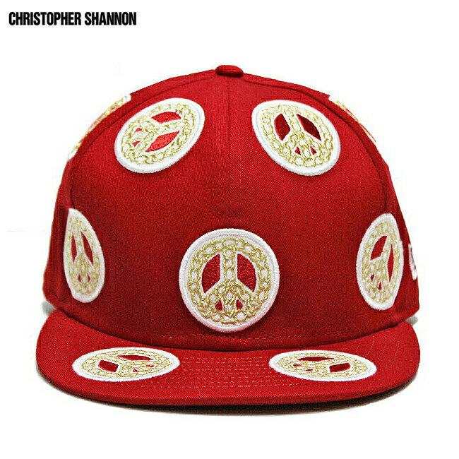 KIDDA BY CHRISTOPHER SHANNON (クリストファー シャノン) KIDDA × NEW ERA CHAIN CAP (RED) [ニューエラ/6パネルキャップ/ロゴ/チェーン柄/刺繍/UNISEX] [レッド]