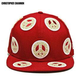 【半額50%OFFセール】KIDDA BY CHRISTOPHER SHANNON (クリストファー シャノン) KIDDA × NEW ERA CHAIN CAP (RED) [ニューエラ キャップ ベースボールキャップ 6パネル ブランド ピースマーク チェーン ストリート メンズ ユニセックス 刺繍 帽子] [レッド]