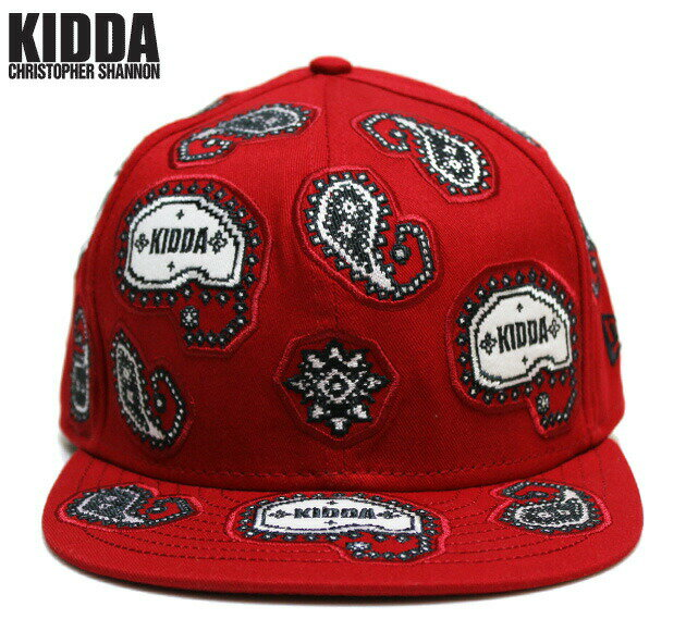KIDDA BY CHRISTOPHER SHANNON (クリストファー シャノン) KIDDA × NEW ERA PAISLEY CAP (RED) [ニューエラ/6パネルキャップ/ロゴ/バンダナ/ペイズリー柄/刺繍/UNISEX] [レッド]