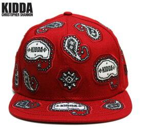 KIDDA BY CHRISTOPHER SHANNON (クリストファー シャノン) KIDDA × NEW ERA PAISLEY CAP (RED) [ニューエラ キャップ 6パネル ハット ブランド ロゴ バンダナ ペイズリー ストリート モード メンズ レディース ユニセックス 刺繍 UNISEX] [レッド]