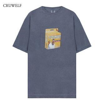 CRUWELF(kuruuerufu)PUNISHER TEE(BLUE GREY)[T恤短袖名牌街道针织顶端纽约保鲜纸嘻哈体育人分歧D男女两用BIG PUN 2XL XXL UNISEX][蓝色灰色]