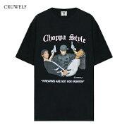CRUWELF(クルーウェルフ)CHOPPASTYLETEE(BLACK)[Tシャツ半袖ブランドストリートカットソートップスラップヒップホップスポーツメンズレディースユニセックスUNISEX][ブラック]