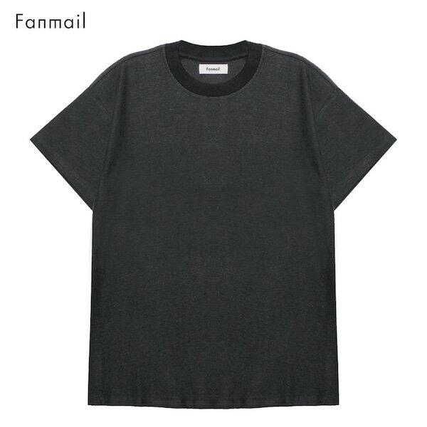 FANMAIL (ファンメール) BOXY T-SHIRT (BLACK) [Tシャツ/カットソー/ボックス/オーガニック/無地/UNISEX] [ブラック]