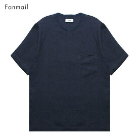 FANMAIL (ファンメール) WOVEN T-SHIRT (NAVY) [Tシャツ カットソー トップス ブランド オーガニック カジュアル ストリート メンズ レディース ユニセックス 無地 半袖 UNISEX] [ネイビー]