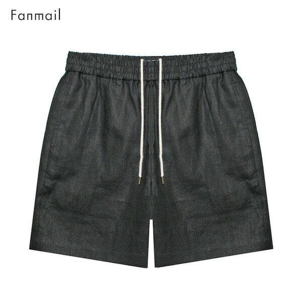FANMAIL (ファンメール) SPORT SHORT (BLACK) [ショートパンツ/ショーツ/ハーフ/リネン/オーガニック/UNISEX] [ブラック]