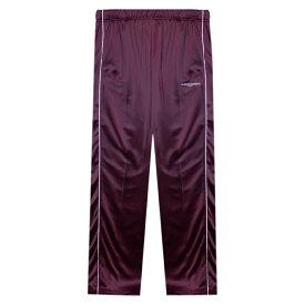 FASHION CRIMINAL LONDON (ファッション クリミナル ロンドン) FIG BUTTON TRACK PANTS (BURGUNDY) [トラックパンツ ジャージ メンズ ユニセックス] [バーガンディ]