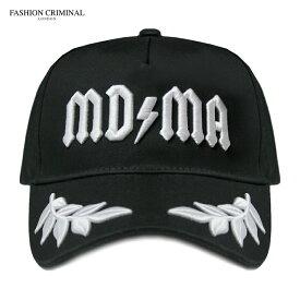 【週末限定 P10倍】FASHION CRIMINAL (ファッション クリミナル) BLACK & WHITE VICTORY CAP (BLACK/WHITE) [6パネル キャップ スナップバックキャップ ベースボールキャップ ブランド ロゴ ストリート メンズ ユニセックス 刺繍 帽子] [ブラック/ホワイト]