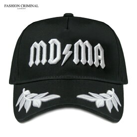 FASHION CRIMINAL (ファッション クリミナル) BLACK & WHITE VICTORY CAP (BLACK/WHITE) [6パネル キャップ スナップバックキャップ ベースボールキャップ ブランド ロゴ ストリート メンズ ユニセックス 刺繍 帽子] [ブラック/ホワイト]