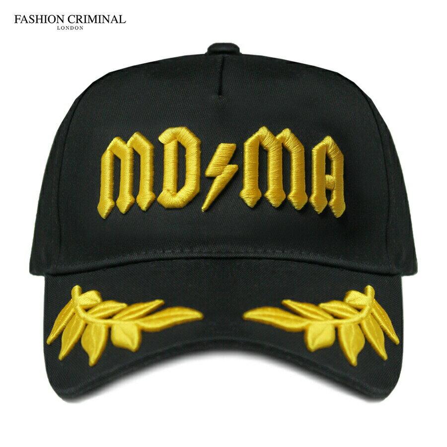 FASHION CRIMINAL (ファッション クリミナル) BLACK & YELLOW VICTORY CAP (BLACK/YELLOW) [6パネルキャップ/ベースボール/ロゴ/UNISEX] [ブラック/イエロー]