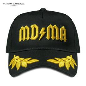 FASHION CRIMINAL (ファッション クリミナル) BLACK & YELLOW VICTORY CAP (BLACK/YELLOW) [6パネル キャップ スナップバックキャップ ベースボール ロゴ ストリート メンズ ユニセックス 刺繍 帽子] [ブラック/イエロー]