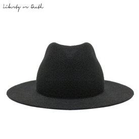 【最大80%OFF SALE】LIBERTY OR DEATH (リバティ オア デス) WOOL FELT GAUCHO HAT (BLACK) [フェドラハット ワイドブリムハット ロング ウール フェルト ブランド カジュアル ストリート メンズ レディース ユニセックス 中折れ 帽子 UNISEX] [ブラック]