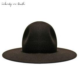 【半額50%OFFセール】LIBERTY OR DEATH (リバティ オア デス) CLASSIC WOOL FELT HAT (BROWN) [フェドラハット ワイドブリムハット ウール フェルト ブランド カジュアル ストリート メンズ レディース ユニセックス 中折れ 帽子 UNISEX] [ダーク ブラウン]