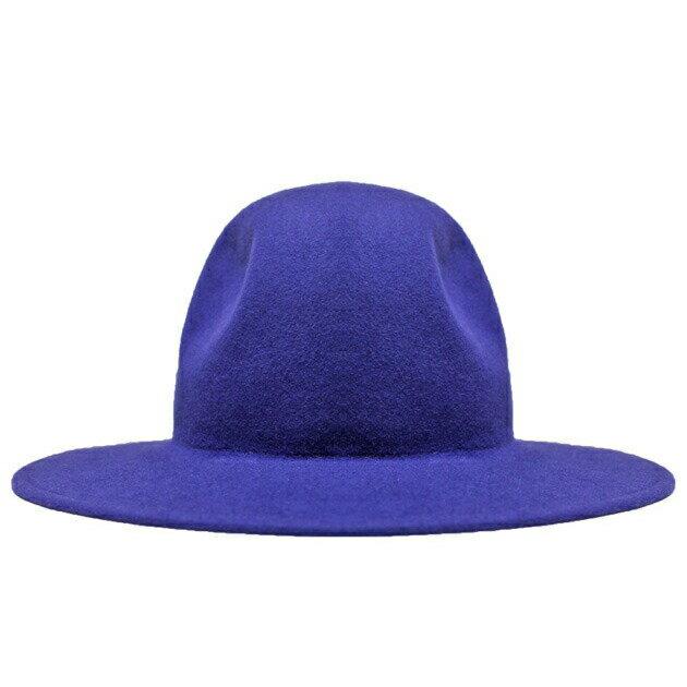 [期間限定 30%OFFクーポン] LIBERTY OR DEATH (リバティ オア デス) CLASSIC WOOL FELT HAT (JET BLUE) [フェドラハット/ワイドブリム/ロング/ウールフェルト/中折れ/UNISEX] [ブルー]