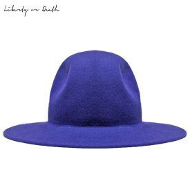 [半額クーポン × ポイント10倍] LIBERTY OR DEATH (リバティ オア デス) CLASSIC WOOL FELT HAT (JET BLUE) [フェドラハット ワイドブリムハット ロング ウール フェルト ブランド カジュアル ストリート メンズ ユニセックス 中折れ 帽子][ブルー]