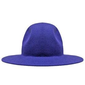 【30%OFFセール】LIBERTY OR DEATH (リバティ オア デス) CLASSIC WOOL FELT HAT (JET BLUE) [フェドラハット ワイドブリムハット ロング ウール フェルト ブランド カジュアル ストリート メンズ レディース ユニセックス 中折れ 帽子 UNISEX] [ブルー]