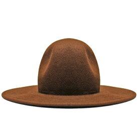 【半額50%OFFセール】LIBERTY OR DEATH (リバティ オア デス) CLASSIC WOOL FELT HAT (CHOCOLATE) [フェドラハット ワイドブリムハット ウール フェルト ブランド カジュアル ストリート メンズ レディース ユニセックス 中折れ 帽子 UNISEX] [チョコレート]