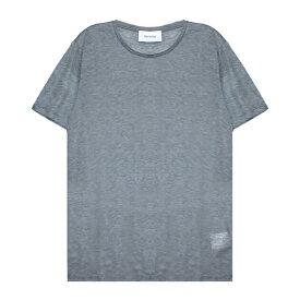 【最大50%OFFセール】HARMONY (ハーモニー) TERRY T-SHIRT (DARK GREY) [Tシャツ カットソー トップス ブランド プレーン カジュアル ストリート メンズ レディース ユニセックス 無地 半袖 UNISEX] [ダーク グレー]