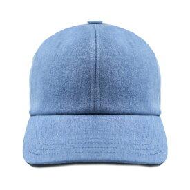【最大50%OFFセール】HARMONY (ハーモニー) ARNAUD CAP (BLEACHED) [6パネル キャップ ストラップバックキャップ スナップバックキャップ ブランド デニム ブリーチ ウォッシュ カジュアル ストリート メンズ ユニセックス 無地 帽子] [ライト ブルー]